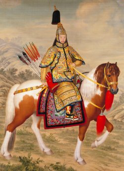 Хатангу дегель подробно - Страница 4 The_Qianlong_Emperor_in_Ceremonial_Armour_on_Horseback-sm